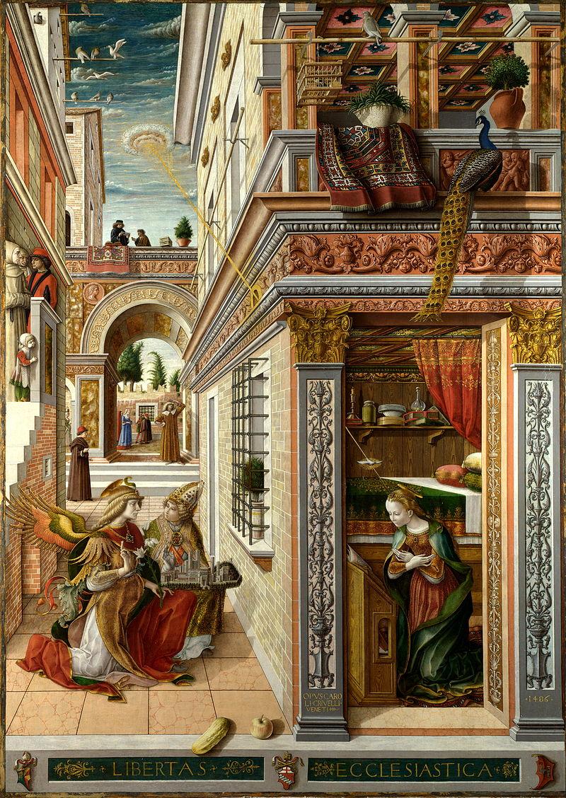 Carlo Crivelli - Annunciazione di Ascoli - 1486 - National Gallery - Londra