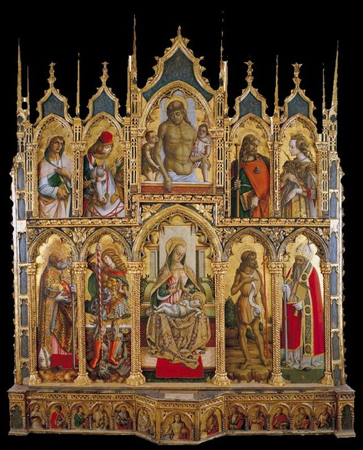 Carlo e Vittore Crivelli - Polittico di Monte San Martino - Chiesa di San Martino Vescovo - Monte San Martino (Mc)